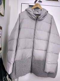 gray zip-up bubble jacket London, N6H 4P4