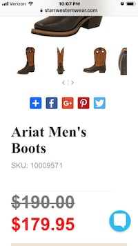 Ariat men's boots size 13D like new  Houston, 77032