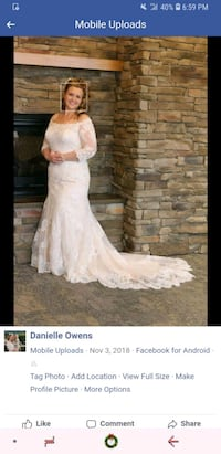 Wedding dress from j and b