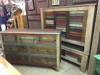 Reclaimed Wood Queen Bedroom Set Myrtle Beach, 29588