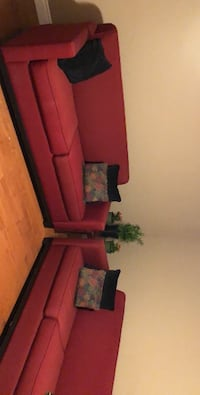 2 Beautiful Red Loveseat beds  Hamilton