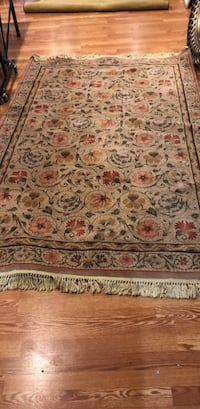 brown and red floral area rug Manassas, 20112