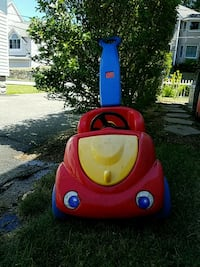 red and blue Little Tikes cozy coupe Stoneham, 02180