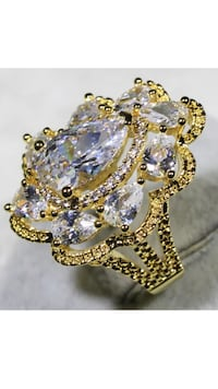 18k Gold Filled Ring With Clear CZ Size 9 Nashville