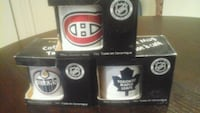 3 hockey coffee mugs in boxes can buy separate 8 each Brampton, L6T 1S8