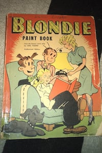 Blonder paint book 1943 coloring book