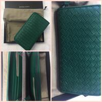 quilted green leather long wallet collage Worcester, 01604
