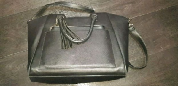 caaf8a7ea Used black leather leather crossbody bag for sale in Leicester - letgo
