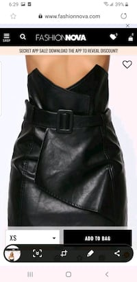 Leather skirt size m with tag Markham, L3T 0C7