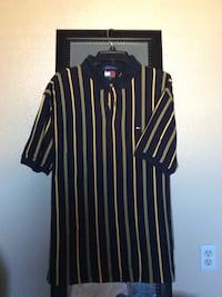 yellow and black Tommy Hilfiger polo shirt Corona, 92883