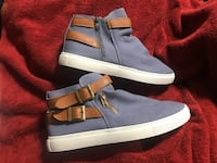 Men's Canvas Blue-Grey Stylish Sneakers EU42/Amer 9-Don't Be Mediocre! Annapolis, 21401