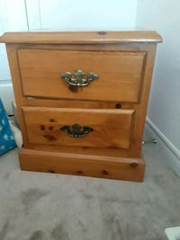 brown wooden 2-drawer nightstand