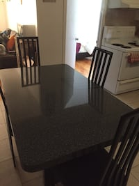Marble Dining Room Table Set 4 chairs
