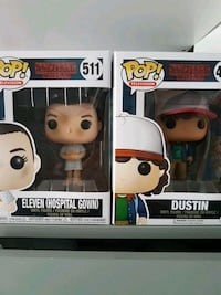 two Pop! Stranger Things Elven Hospital Gown and Dustin vinyl figure boxes Guelph, N0L 1P0