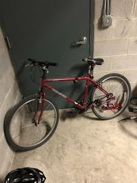 red and black hardtail mountain bike Chicago, 60647