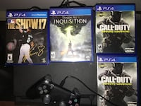 four assorted PS4 game cases Brampton