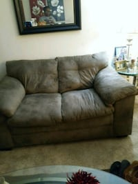gray suede 2-seat sofa College Park, 20740