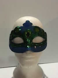 $1 Blue and green Face Mask Halloween Costume Accesory Pickup around Harlem and Addison. Willing to Ship Ask for shipping prices crossposted Chicago