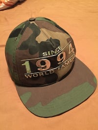black and green camouflage 1994 fitted cap Central Okanagan