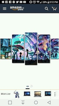 5-panel Rick & Morty wall decoration