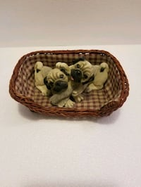 Two Bulldog Puppys in a basket 1998 Living Stone S Omaha, 68132