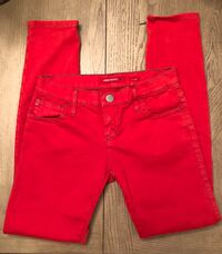 Made in Italy Miss Sixty skinny cropped pants with zipper bottoms. Las Vegas, 89135
