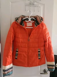 Brand new cute orange down coat (S)