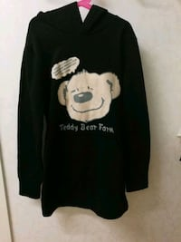 Teddy bear lång hoodie S/M Gothenburg, 408 02