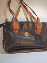 Black/Tan Leather Purse Akron