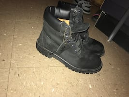 size 6 in men's . Black Timberlands