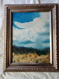 """Oil painting titled """"Storm Clouds"""" Newport Beach"""
