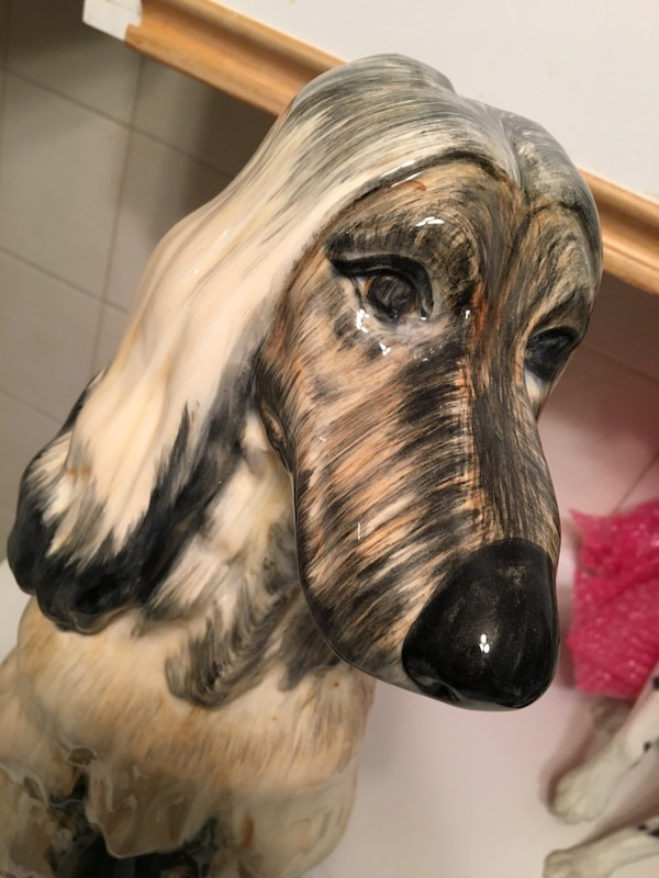 Hand painted Ceramic Afghan Dog