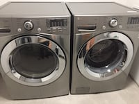 two gray front-load clothes washer and dryer set Vaughan
