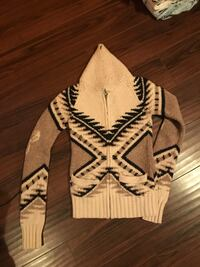 white and black tribal print cardigan 549 km