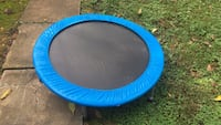 round blue and black trampoline 39 mi