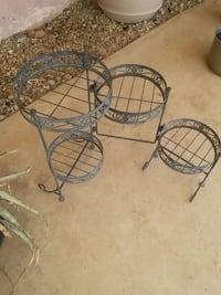 two black metal framed glass top tables Palmdale, 93550