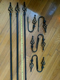 Curtain Rods and Tie Backs