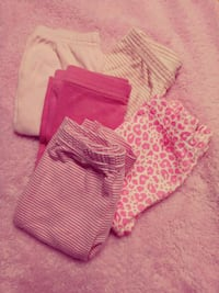 6M Pants bundle of 5 pink and white Mission, 78572
