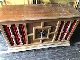 Vintage Electrophonic record player console cabinet