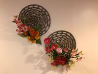 two brown floral wreaths New York
