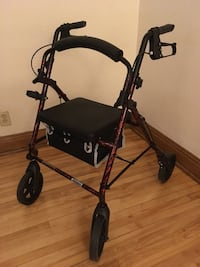 black and red rollator