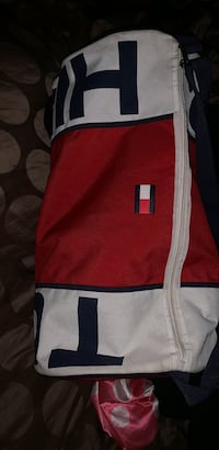 red and white zip-up jacket 170 mi