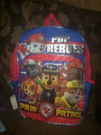 blue and multicolored Paw Patrol backpack 583 mi