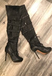 L.A.M.B Gwen Stefani Thigh High Leather Boots Size 8 Toronto, M5J
