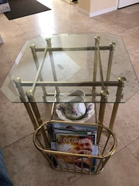 stainless steel frame glass top table Las Vegas, 89178