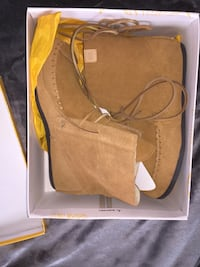 Brown suede and fur moccasin booties/ shoes Spanish Fort, 36527