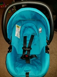 baby's teal and black car seat carrier Edmonton, T5X 1T5