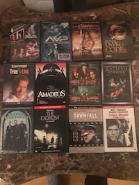 assorted DVD case lot