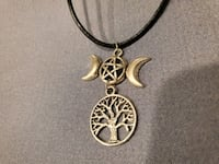 Tree of Life & Triple Goddess Necklace on black co Burtonsville