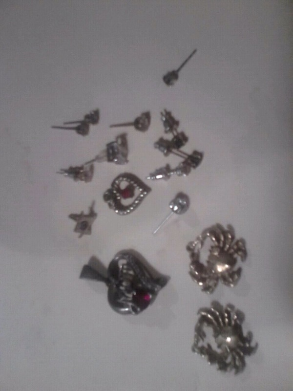 Earrings and charms both has mom on them and Janua